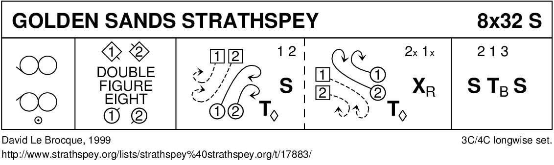 Golden Sands Strathspey Keith Rose's Diagram