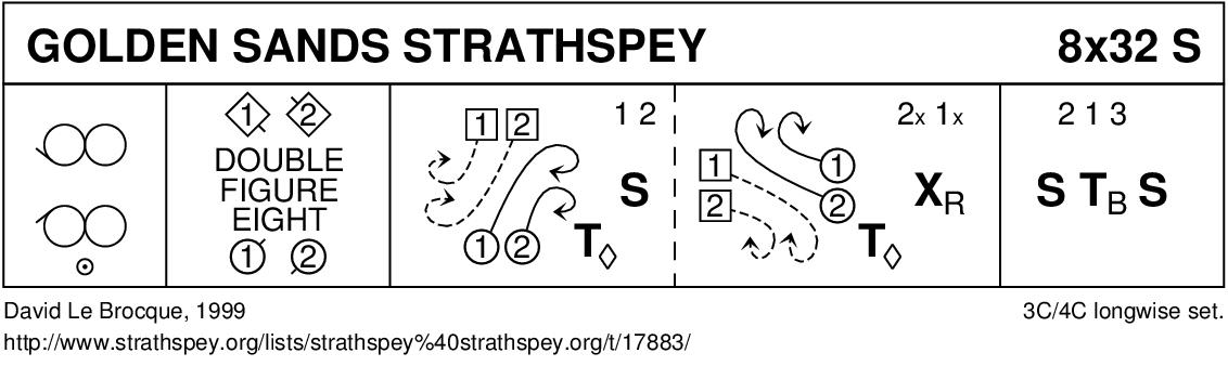 Golden Sands Strathspey Keith Rose's Diagram