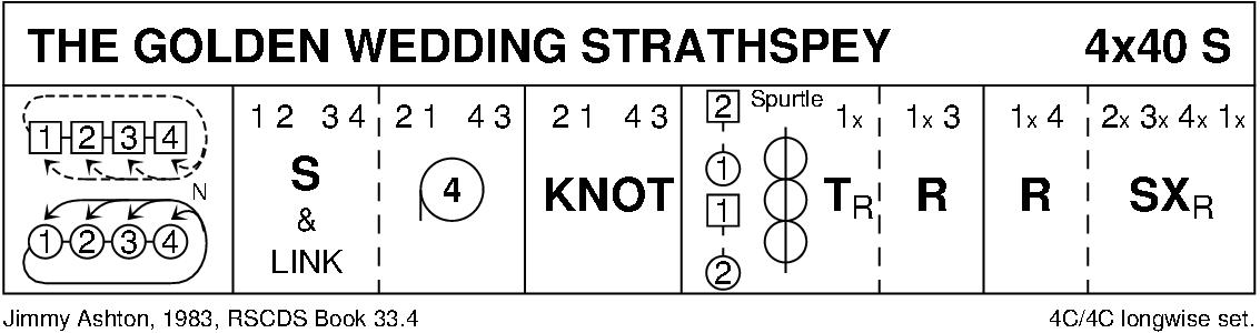 The Golden Wedding Strathspey Keith Rose's Diagram