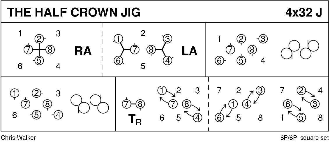 Half Crown Jig Keith Rose's Diagram