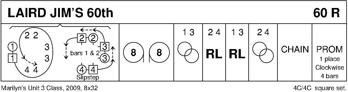 Laird Jim's 60th Keith Rose's Diagram