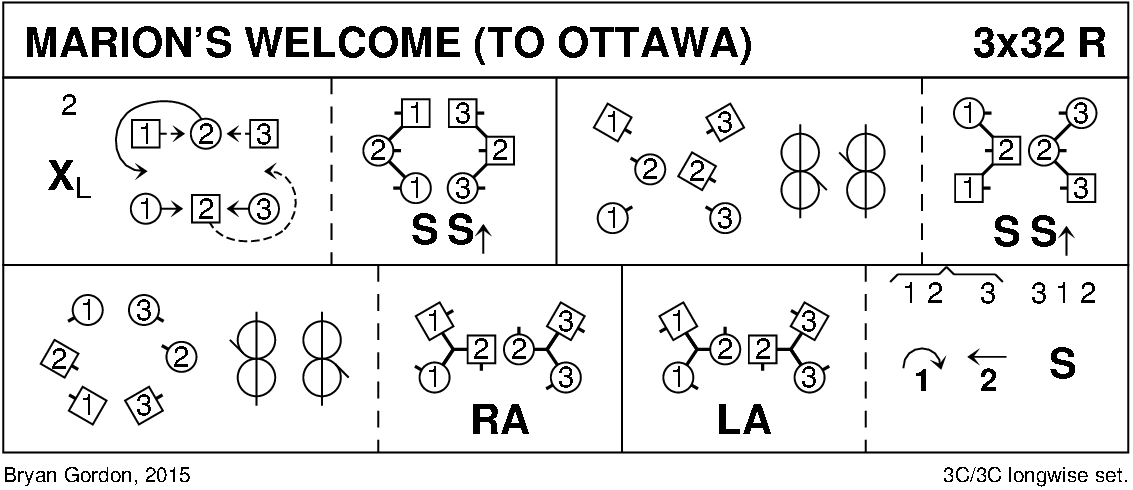 Marion's Welcome (To Ottawa) Keith Rose's Diagram