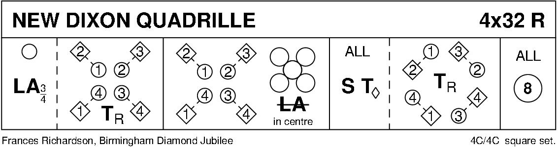 New Dixon Quadrille Keith Rose's Diagram