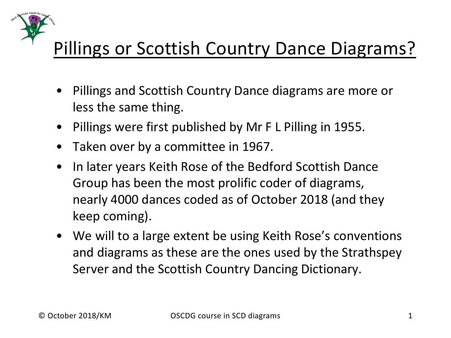 Oslo Scottish Country Dance Group's Explanation Of Crib Diagrams - Page 1