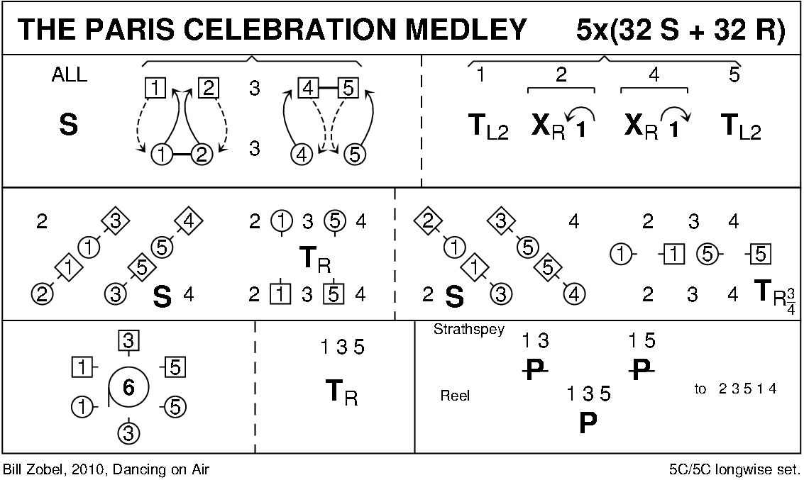The Paris Celebration Medley 1 Keith Rose's Diagram