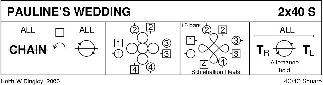 Pauline's Wedding Keith Rose's Diagram