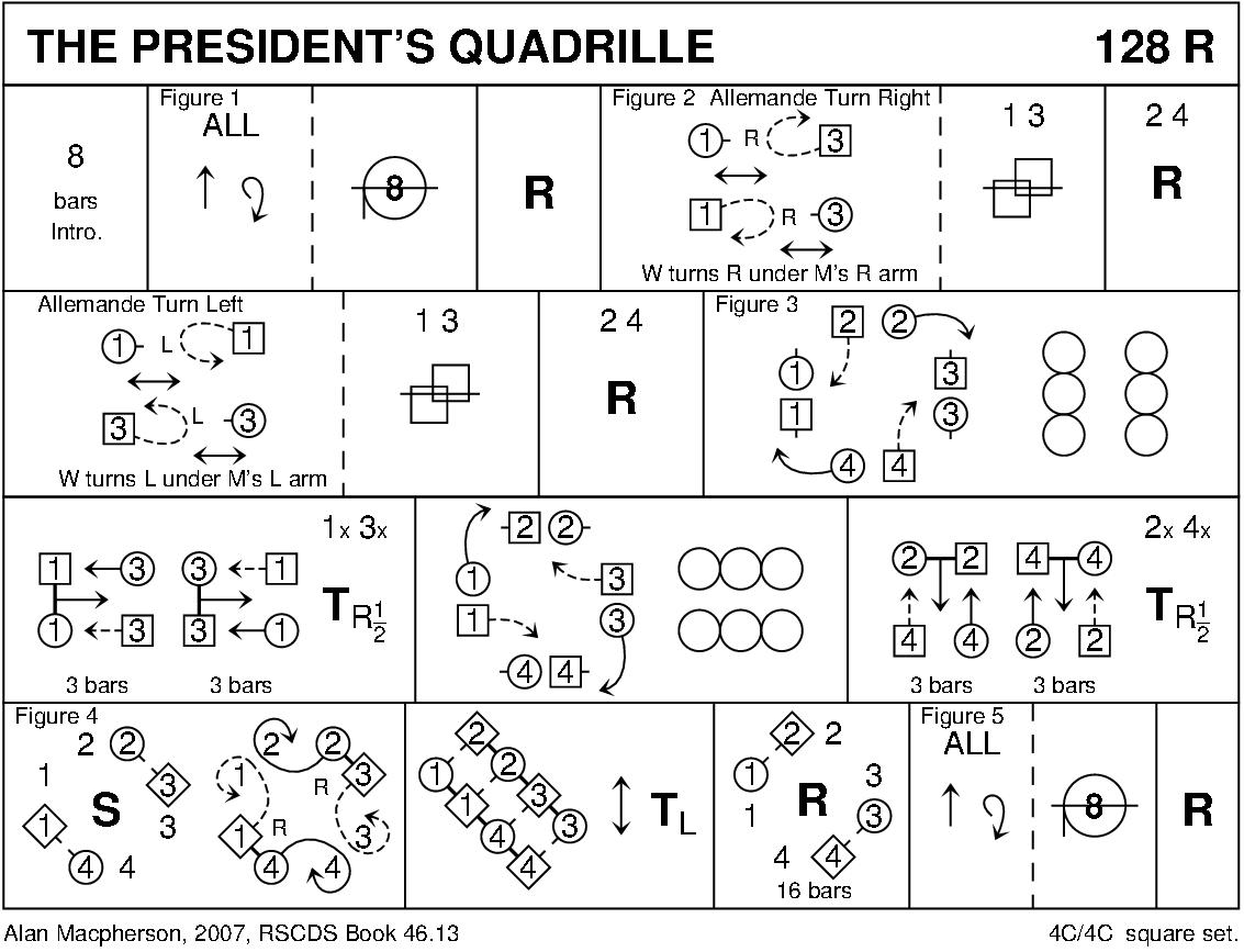 President's Quadrille Keith Rose's Diagram
