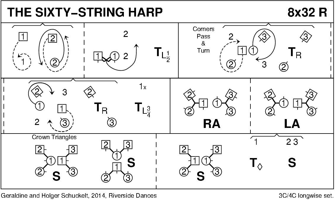 The Sixty String Harp Keith Rose's Diagram