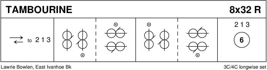 Tambourine Reel Keith Rose's Diagram