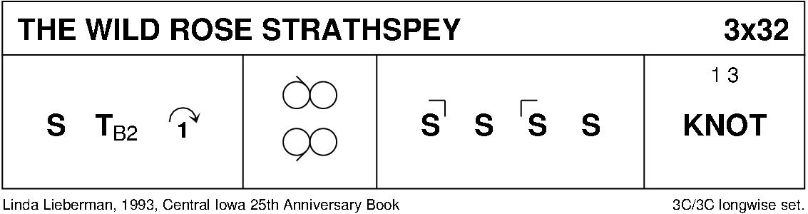 The Wild Rose Strathspey Keith Rose's Diagram
